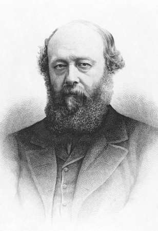 statesman: Robert Cecil, 3rd Marquess of Salisbury (1830-1903) on engraving from the 1800s. British statesman and Prime Minister.