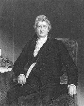Thomas Clarkson (1760-1846) on engraving from the 1800s. Leading campaigner against the slave trade in the British Empire. Engraved by J.Cochran and published in London by Fisher, Son & Co in 1839. Editorial