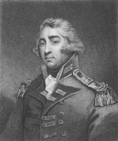 Thomas Graham, 1st Baron Lynedoch (1748-1843) on engraving by Hopwood from the 1800s. Scottish  aristocrat, politician  and British Army officer.  Stock Photo - 8510297