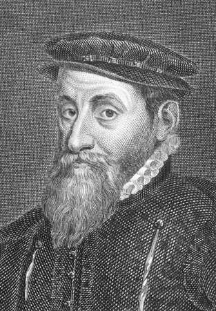 king edward: Thomas Gresham (1519-1579) on engraving from the 1800s. English merchant and financier who worked for King Edward VI and his half-sisters, Queens Mary I and Elizabeth I. Engraved by A.W.Warren and published in 1808 by Stratford. Editorial
