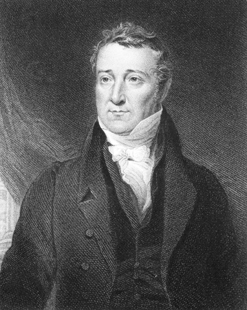 statesman: William Huskisson (1770-1830) on engraving from the 1800s. British statesman, financier and Member of Parliament. Engraved by J.Cochran after a painting by J.Gladstone and published by Fisher, Son & Co, London in 1846. Editorial