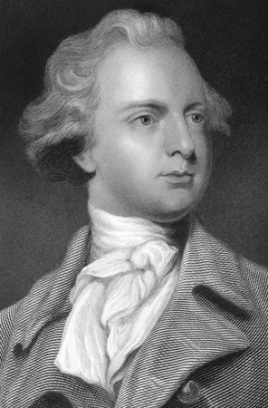floriculturist: Sir Abraham Hume, 2nd Baronet (1749-1838) on engraving from the 1800s. British floriculturist and Tory politician. Engraved by G.Strodart after a painting by J.Reynolds and published in London for the Proprietors.