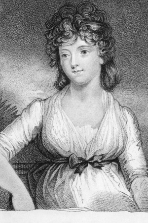 jane: Jane Elizabeth (Coke), Viscountess Andover on engraving from the 1800s. Engraved after a painting by John Hoppner. Editorial
