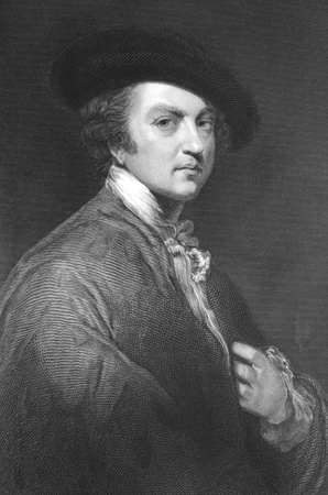 reynolds: Joshua Reynolds (1723-1792) on engraving from the 1800s. English painter specialising in portraits. Engraved by T.W.Hunt after a self portrait by J.Reynolds and published in London for the Proprietors.