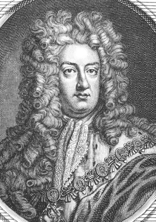 prince of denmark: Prince George of Denmark and Norway, Duke of Cumberland (1653-1708) on engraving from the 1700s. Husband of Queen Anne of Great Britain. Editorial