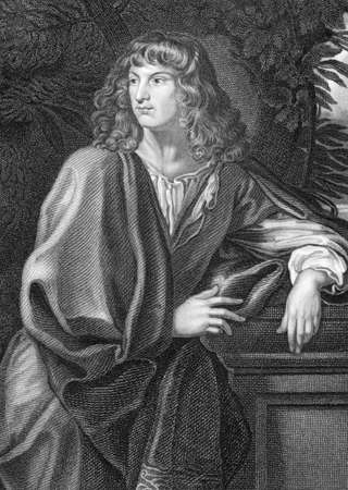 spencer: Robert Spencer, 2nd Earl of Sunderland KG, PC (1641-1702) on engraving from 1838. English statesman and nobleman. Engraved by W.H.More after a painting by C.Maratta and published by the London Printing and Publishing Company.