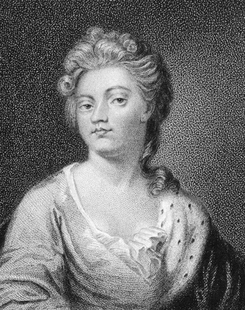 influential: Sarah Churchill, Duchess of Marlborough (1660-1744) on engraving from the 1800s. One of the most influential women in British history as a result of her close friendship with Queen Anne of Great Britain. Engraved by C.Picart from a drawing by Gardner and
