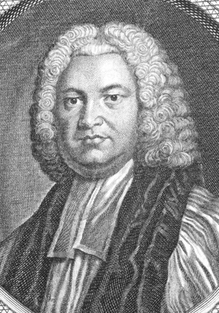 archbishop: Thomas Secker (1693-1768) on engraving from the 1700s. Archbishop of Canterbury.