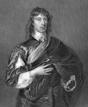 William Howard, 1st Viscount Stafford (1614-1680) on engraving from 1838. Supporter of the Royalist cause before being implicated in the Popish Plot and executed for treason. Regarded as a Roman Catholic martyr. Engraved by H.Robinson after a painting by  Stock Photo - 9247220