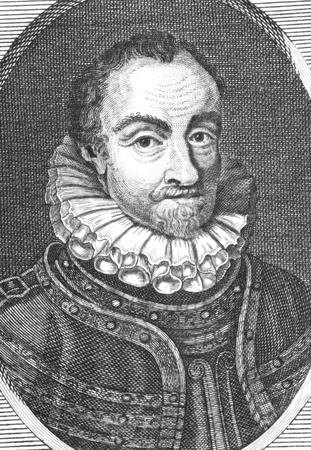resulted: William I, Prince of Orange aka William the Silent (1533-1584) on engraving from the 1800s. Leader of the Dutch revolt against the Spanish setting off the 80 Years War that resulted in the formal independence of the United Provinces in 1648. Editorial