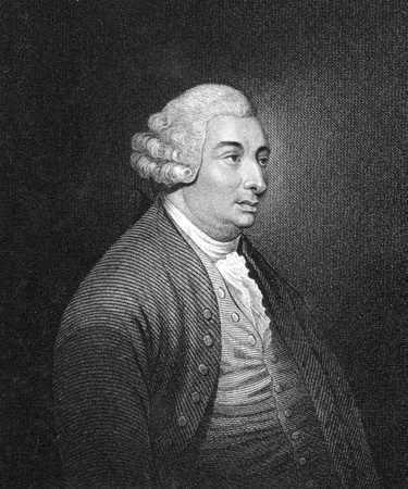 economist: David Hume (1711-1776) on engraving from the 1830. Scottish philosopher, economist and historian. Key figure of Western philosophy and Scottish Enlightenment. Published in London by Thomas Kelly.