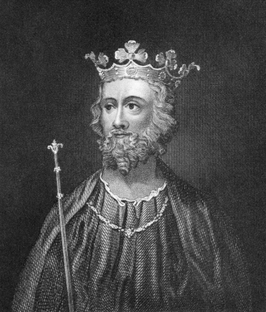 Edward II of England (1284-1327) on engraving from 1830. King of England during 1307-1327. Published in London by Thomas Kelly.