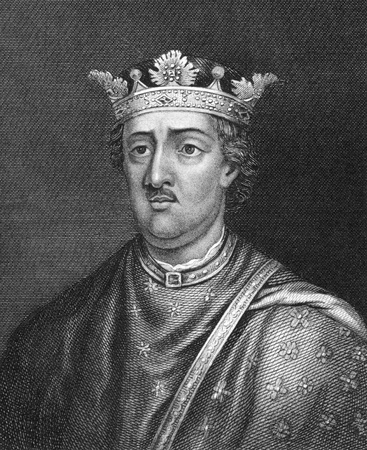 henry: Henry II of England (1133-1189) on engraving from 1830. King of England during 1154-1189. Published in London by Thomas Kelly.