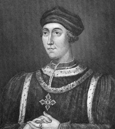 henry: Henry VI (1421-1471) on engraving from 1830. King of England during 1422-1461 & 1470-1471. Published in London by Thomas Kelly.