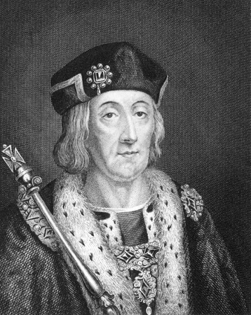 henry: Henry VII (1457-1509) on engraving from 1830. King of England and Lord of Ireland during 1485-1509. Published in London by Thomas Kelly. Editorial