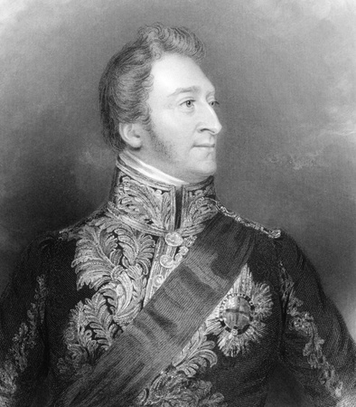 lieutenant: Hugh Percy, 3rd Duke of Northumberland (1785-1847) on engraving from 1839. British aristocrat and Tory politician who served as Lord Lieutenant of Ireland under the Duke of Wellington during 1829-1830. Engraved by Holl after a painting by G.Ward and publi Editorial