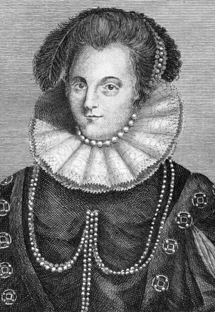Margaret Clifford (nee Russell), Countess of Cumberland (1560-1616) on engraving from 1784. Wife of George Clifford, 3rd Earl of Cumberland. Engraved for Walpoole's new complete British traveller. Stock Photo - 9488603