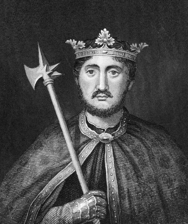 Richard I of England (1157-1199) on engraving from 1830. King of England during 1189-1199. Published in London by Thomas Kelly.