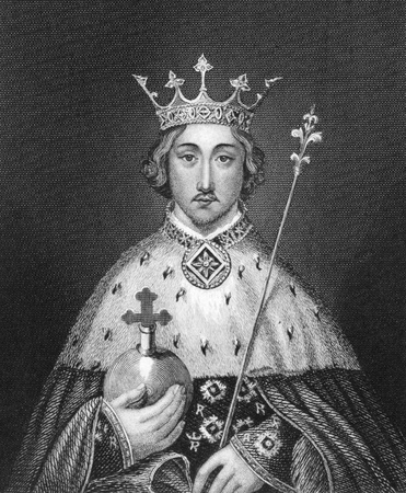 Richard II of England (1367-1400) on engraving from 1830. King of England during 1377-1399. Published in London by Thomas Kelly. Editorial