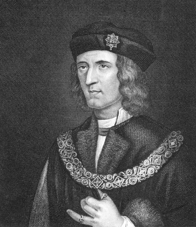 Richard III of England (1452-1485) on engraving from 1830. King of England during 1483-1485. Published in London by Thomas Kelly.