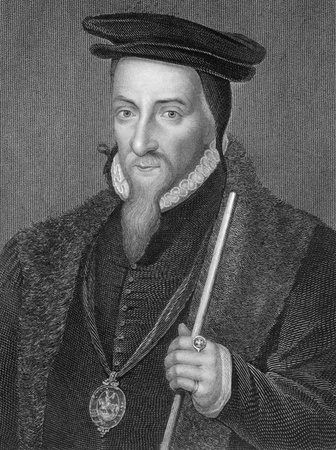baron: Sir William Paulet (14831485-1572) on engraving from 1838. English Secretary of State and statesman who attained several peerages during his life: Baron St John, Earl of Wiltshire and Marquess of Winchester. Engraved by H.Robinson after a painting by Hol