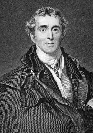 Arthur Wellesley, 1st Duke of Wellington (1769-1852) on engraving from 1800s. Soldier and statesman, one of the leading military and political figures of the 19th century. Engraved by H.Robinson after a painting by T.Lawrence . Stock Photo - 9625035