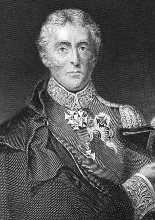 Arthur Wellesley, 1st Duke of Wellington (1769-1852) on engraving from 1800s. Soldier and statesman, one of the leading military and political figures of the 19th century. Engraved by Lightfoot and published by Virtue & Co. Stock Photo - 9625027