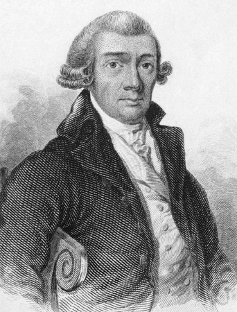 foremost: Dru Drury (1725-1804) on engraving from 1800s. British entomologist, one of the foremost of his time. Engraved by Lizars for the Naturalists Library.