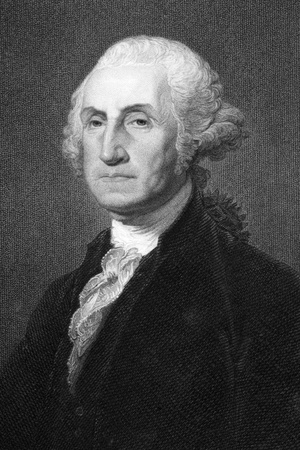 the statesman: George Washington (1731-1799) on engraving from 1800s. First President of the U.S.A. during 1789-1797  and commander of the Continental Army in the American Revolutionary War during 1775-1783. Considered as Father of his country. Engraved by W.Humphreys a Editorial