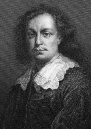 murillo: Bartolome Esteban Murillo (1617-1682) on engraving from 1864. Spanish painter, one of the most important Baroque figures. Engraved by Calamatta after a picture by S.Ipsum and published in London by J.S.Virtue.