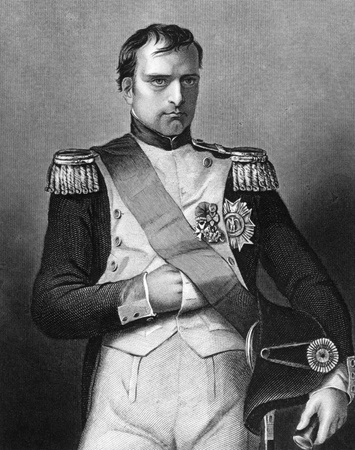 Napoleon Bonaparte (1769-1821) on engraving from 1800s. Emperor of France. One of the most brilliant individuals in history, a masterful soldier, an unequalled grand tactician and a superb administrator. Engraved by D.J.Pound and published by the London p