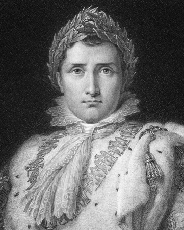 Napoleon Bonaparte (1769-1821) on engraving from 1800s. Emperor of France. One of the most brilliant individuals in history, a masterful soldier, an unequalled grand tactician and a superb administrator. Engraved by W.Holl after a picture by F.Gerard and  Stock Photo - 9625102