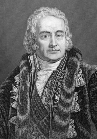 Jean-Antoine Claude, comte Chaptal de Chanteloup (1756-1832) on engraving from 1800s. French chemist and statesman. Engraved by C.Cook after a picture by Monanteuil and published by W.Mackenzie. Stock Photo - 9794832