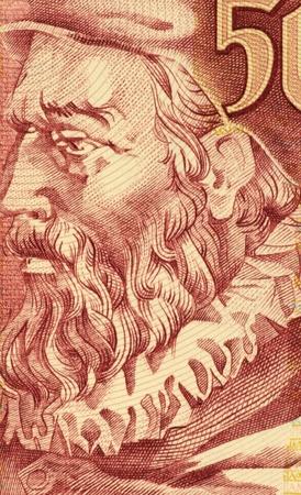 historians: Joao de Barros (1496-1570) sulla banconota da 500 Escudos 1997 dal Portogallo. Uno dei primi grandi storici portoghesi.