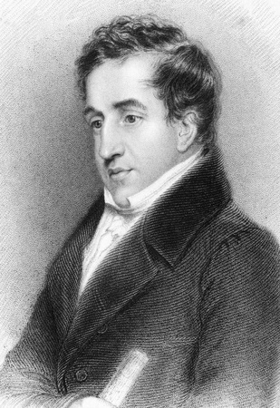 baron: John Cam Hobhouse, 1st Baron Broughton (1786-1869) on engraving from 1834. British politician and memoirist. Engraved by J.Hopwood after a drawing by A.Wivell and published by J.Murray. Editorial
