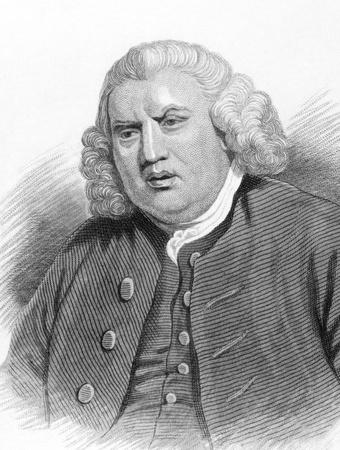 cronologia: Samuel Johnson (1709-1784) en el grabado de la d�cada de 1800. Ingl�s autor que hizo contribuciones duraderas a la literatura de Ingl�s como poeta, ensayista, moralista, cr�tico literario, bi�grafo, editor y lexic�grafo. Grabado para Townsend alfab�tico Cronolog�a.