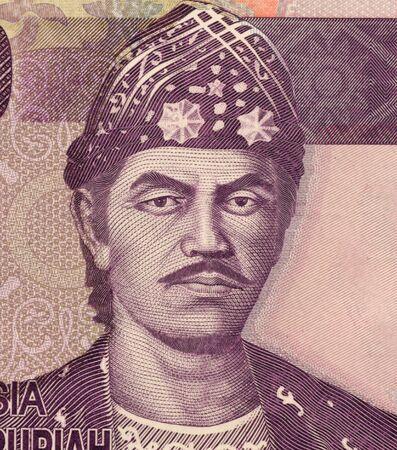 rupiah: Sultan Mahmud Badaruddin II on 10000 Rupiah 2010 banknote from Indonesia. The last Sultan of Palembang. Stock Photo