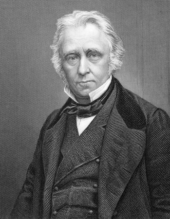 whig: Thomas Babington Macaulay, 1st Baron Macaulay (1800-1859) on 1800s engraving. British poet, historian and Whig politician. Engraved by C.Cook and published by W.Mackenzie.