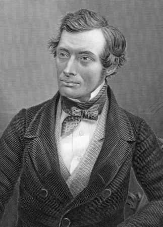graham: Thomas Graham (1805-1869) on engraving from 1800s. Scottish chemist. Engraved by C.Cook after a picture by Claudet and published by W.Mackenzie.
