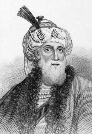 historian: Titus Flavius Josephus (37-100) on engraving from 1800s. Romano-Jewish historian and hagiographer of priestly and royal ancestry. Published in London by L.Tallis. Editorial