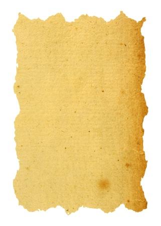 Papier Vintage isolé en blanc Banque d'images - 9794676
