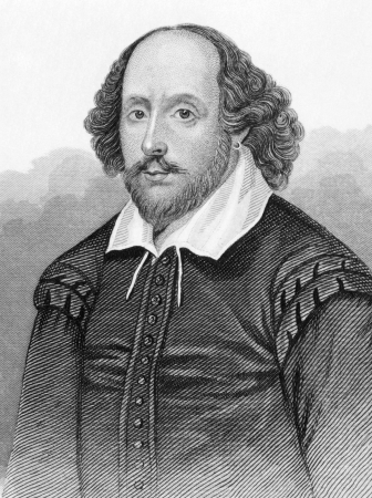literatures: William Shakespeare (1564-1616) on engraving from the 1800s. English poet and playwright, widely regarded as the greatest writer in the English language. Published in London by L.Tallis.