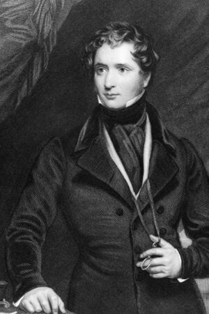statesman: Edward Stanley, 15th Earl of Derby (1826-1893) on engraving from 1837. British statesman. Engraved by Mote after a painting by Briggs and published by G.Virtue.