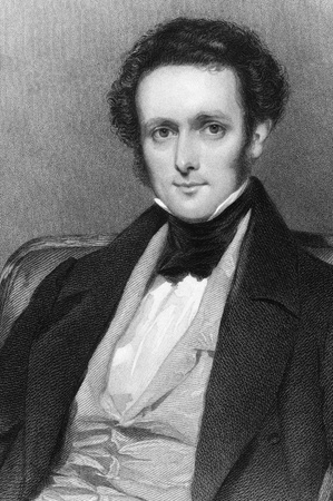 erhaltend: Frederick Shaw, 3. Baronet (1799 -1876) auf Stich aus 1837. Irish konservative Abgeordnete im Parlament des Vereinigten K�nigreichs. Gestochen von E. Scriven nach einem Gem�lde von F. Cruickshank und herausgegeben von G. Virtue.