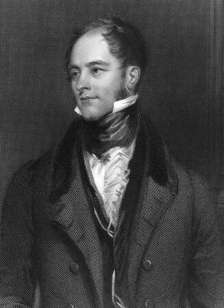 a faction: Henry Goulburn (1784 -1856) on engraving from 1837. English Conservative statesman and a member of the Peelite faction after 1846. Engraved by F.Holl after a painting by Pickersgill and published by G.Virtue. Editorial