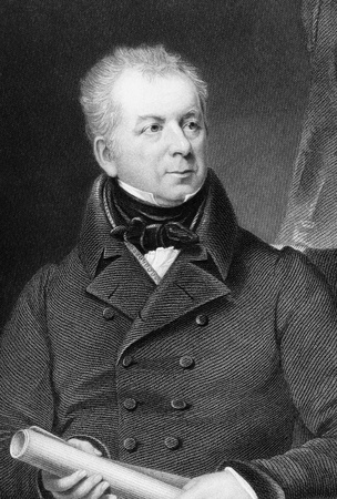 lonsdale: Isaac Gascoyne (1763-1841) on engraving from 1837. British Army officer and Tory politician. Engraved by Scriven after a painting by Lonsdale and published by G.Virtue.