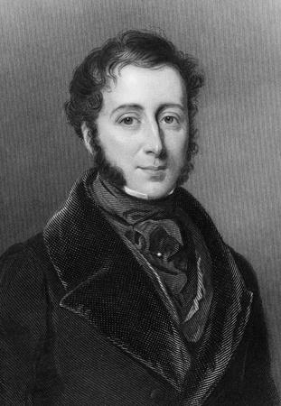 erhaltend: James Graham, 4. Duke of Montrose (1799-1874) auf Stich aus 1837. Britischer konservativer Politiker. Gestochen von WJEdwards nach einem Gem�lde von WCRoss und herausgegeben von G. Virtue.