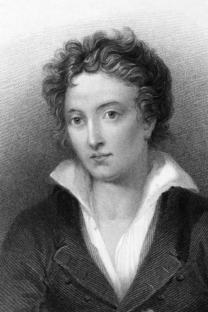 Percy Bysshe Shelley (1792-1822) on engraving from 1833. One of the major English Romantic poets. Engraved by W.Finden and published by J.Murray.