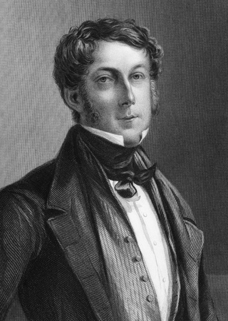 liberal: William Eliot, 4th Earl of St Germans (1829-1881) on engraving from 1800s. British diplomat and Liberal politician. Engraved by W.J.Edwards after a painting by S.Bendixen and published by G.Virtue.