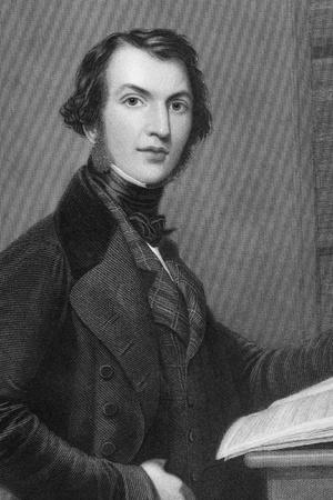 statesman: William Ewart Gladstone (1809-1898) su incisione dal 1837. Statista britannico liberale. Inciso da WHMote dopo un dipinto di Severn e pubblicato da G.Virtue.